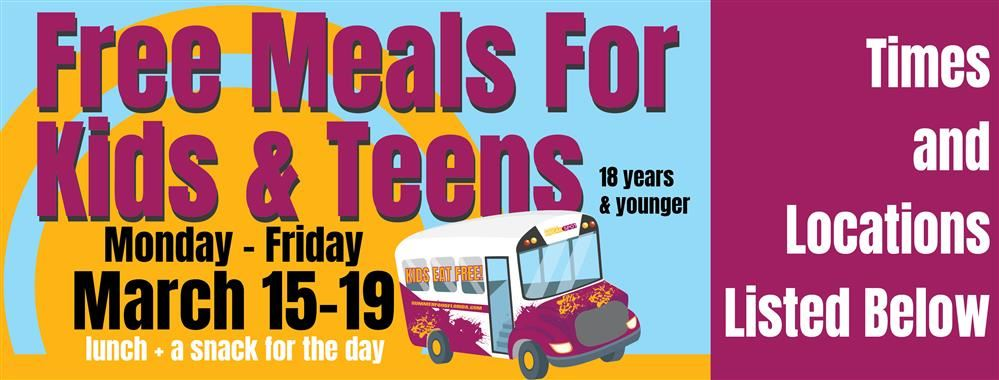 Free Spring Break Meals for Kids