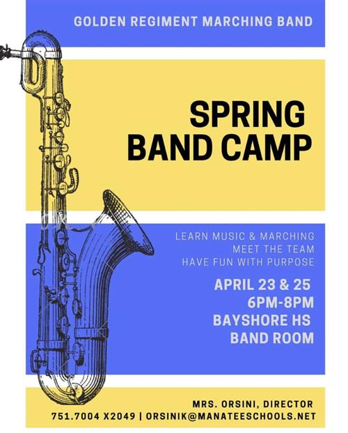 BHS SPRING BAND CAMP