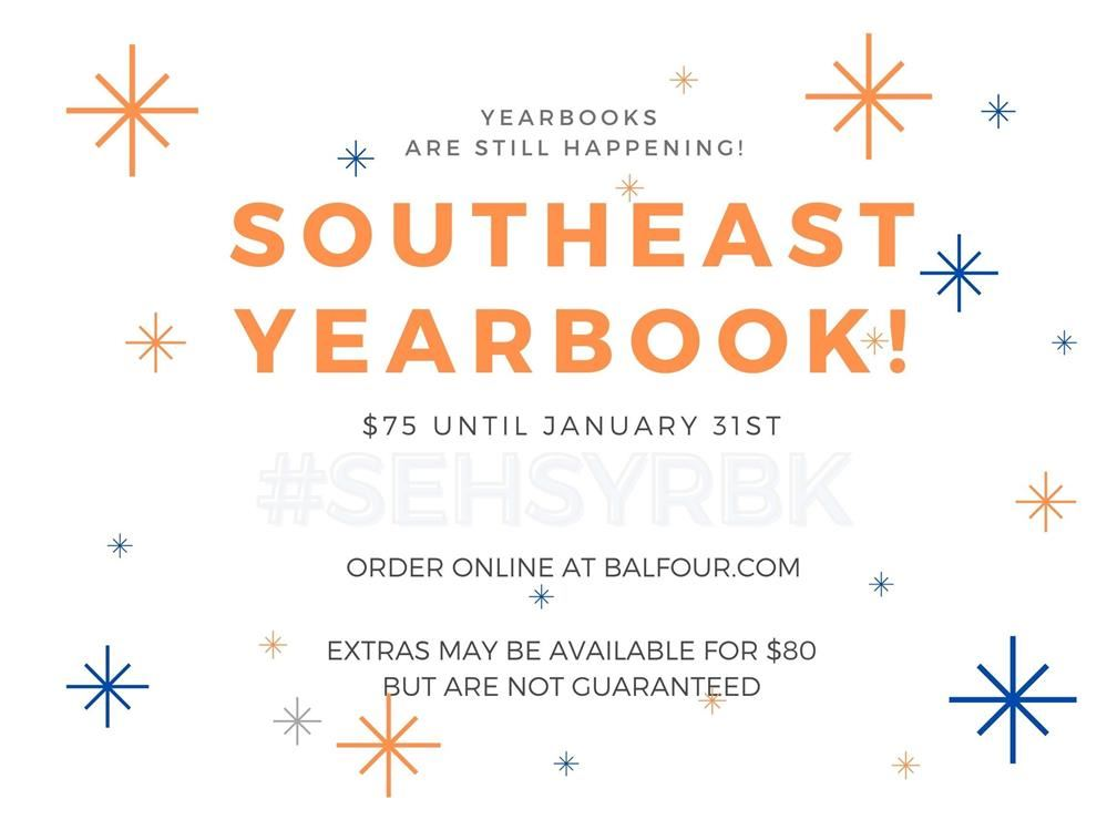 Order Your Yearbook Online.  Deadline to pre-order your yearbook is Sunday, January 31st.