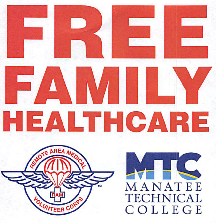 Free Medical, Dental & Vision care for anyone that needs it and can't afford it.  10/13 & 10/14