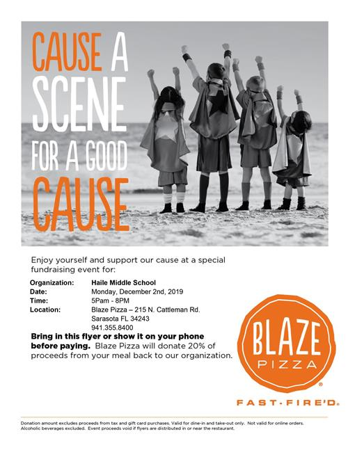 Spirit Night @ Blaze Pizza in UTC from 5:00 p.m. - 8:00 p.m.