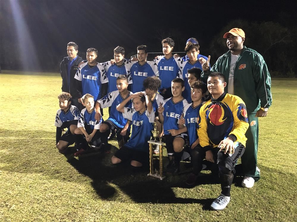 Lee Middle School Boys' Soccer Champions
