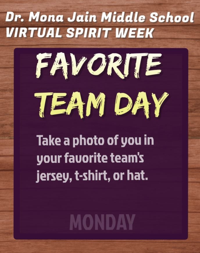 Virtual Spirit Week is THIS WEEK!