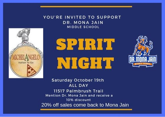 Spirit Night @ Michelangelo's