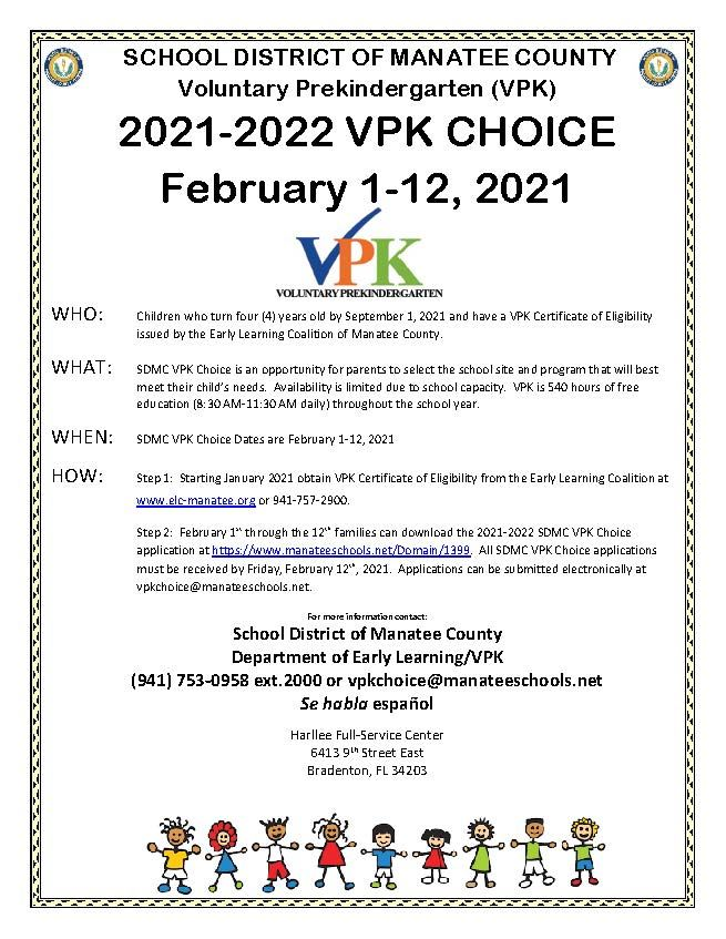 EARLY LEARNING VPK CHOICE 2021-2022