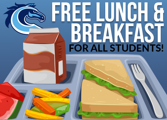 Free Breakfast & Lunch For Students From 11-1 Pickup at Bus Loop