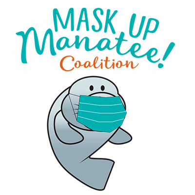 Mask-Up Manatee Coalition logo