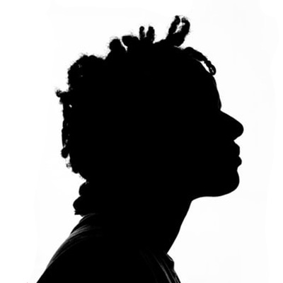 silhouette of a face in profile