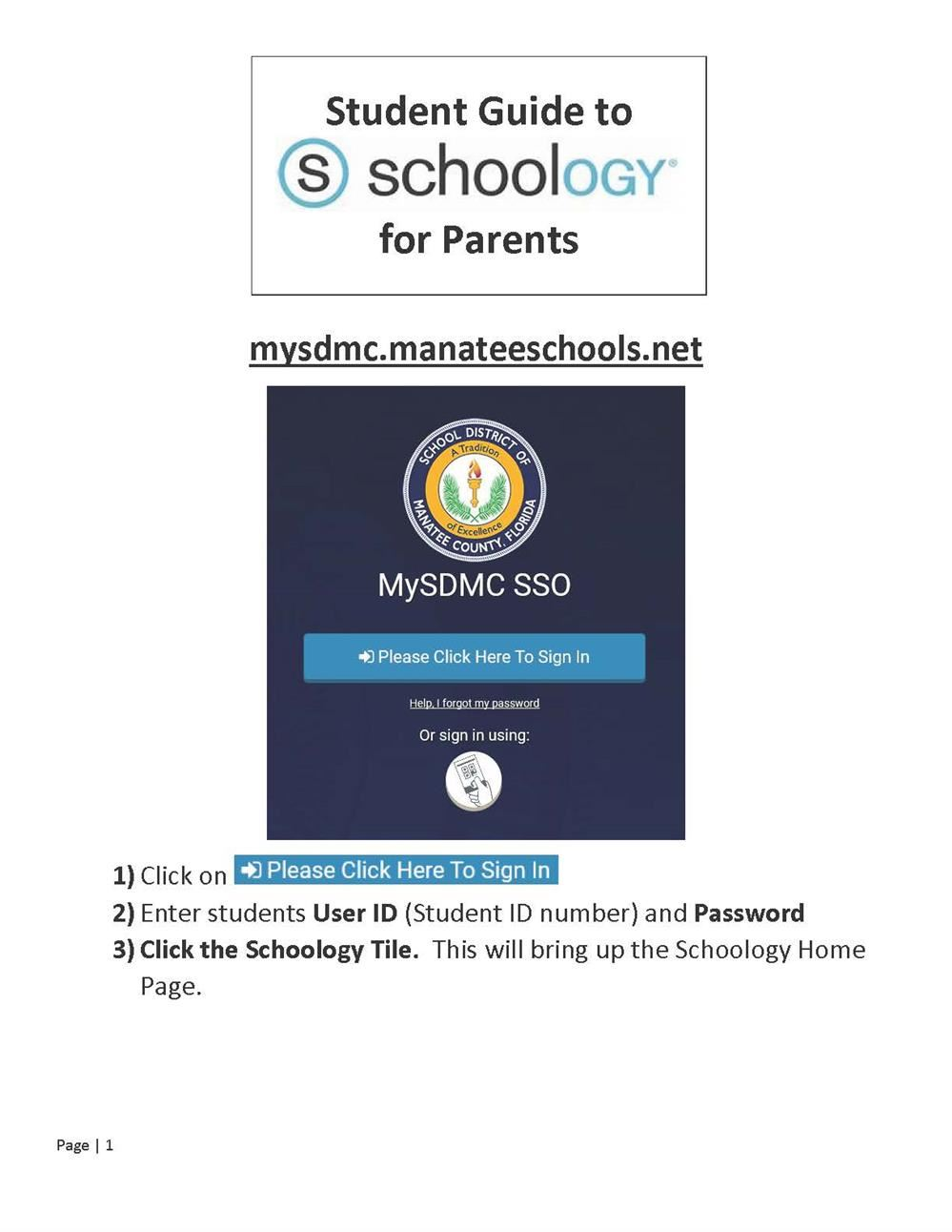 Parent and Student Guide to using Schoology