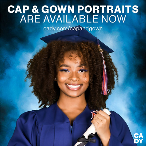 Cap and Gown Portraits are available now!