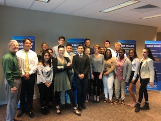 Students learn about careers in the Insurance Industry