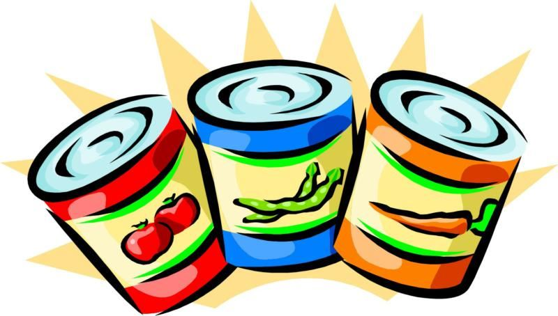 Canned Food Drive - bring donations to your 1st period class