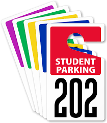 Student Parking decals on sale this summer