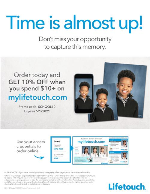 It's Not Too Late To Order School Photos
