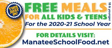 Breakfast and lunch are free to all students for the remainder of the 20-21 school year.