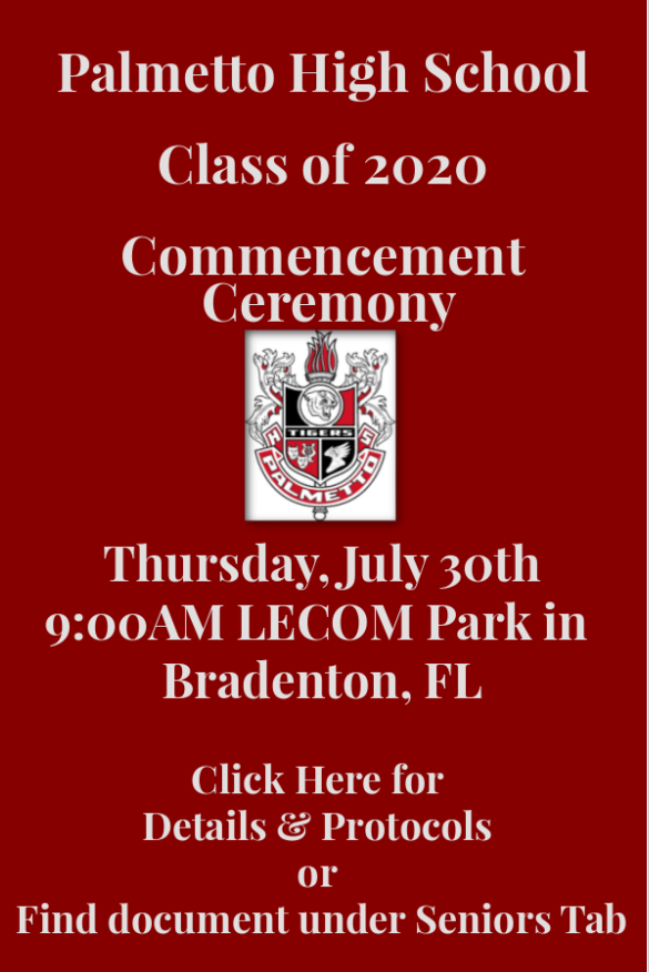 Class of 2020 Commencement Protocols
