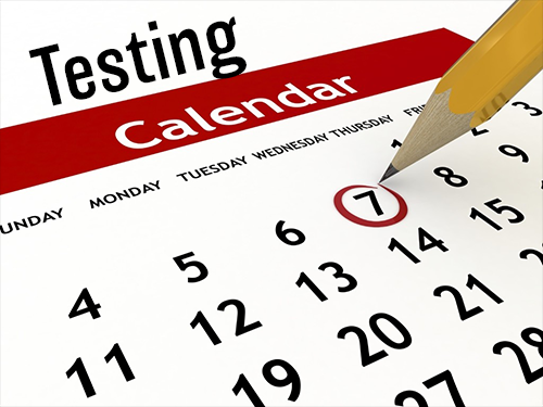 Testing Calendar clipart image