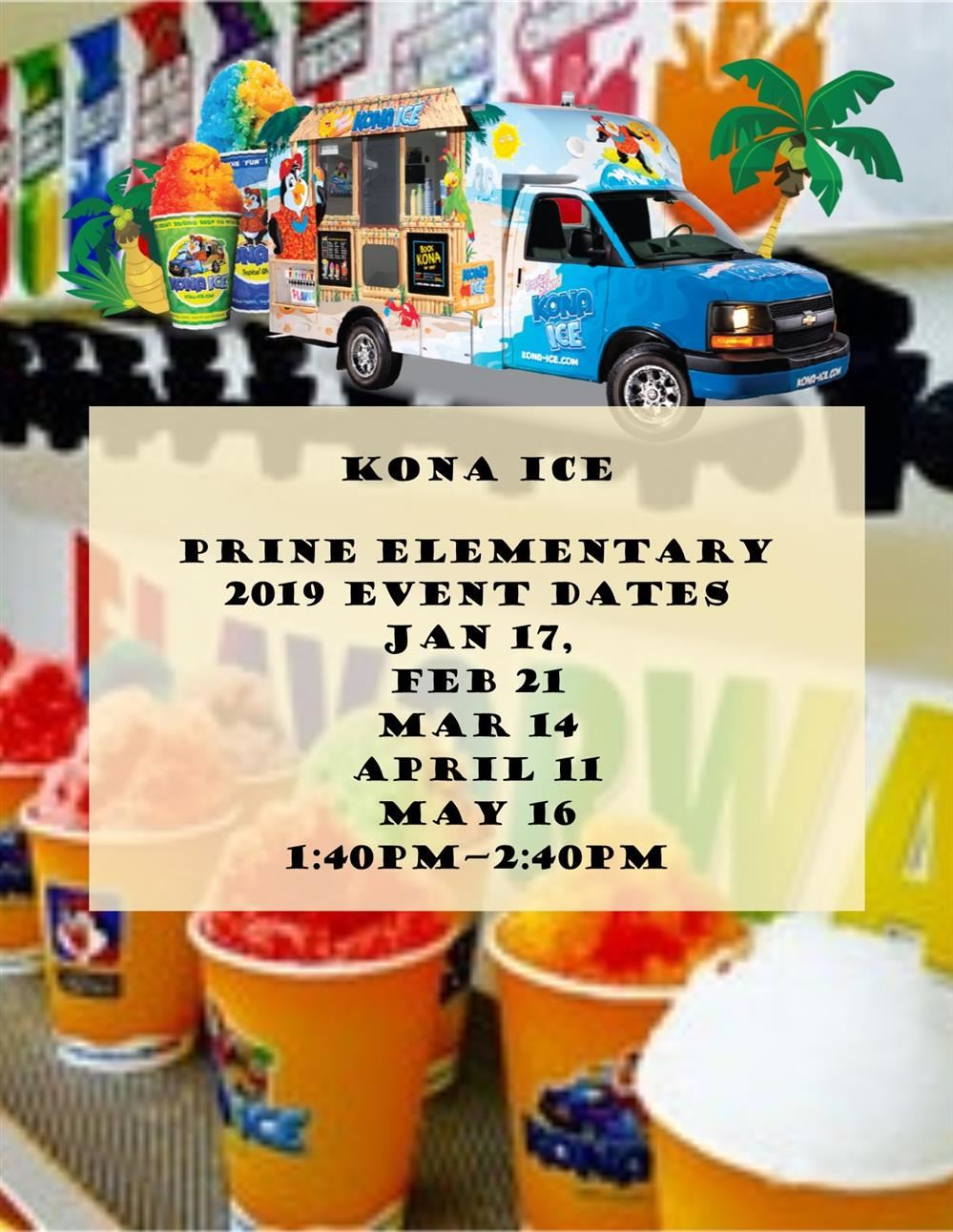 Kona Ice Schedule
