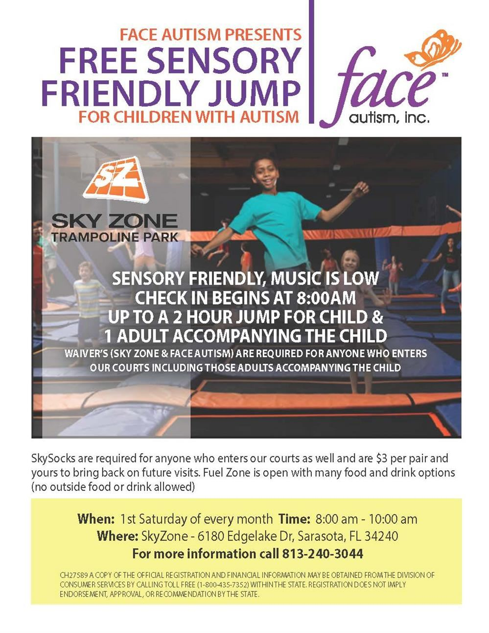 Free Sensory Friendly Jump for Children with Autism and their Family