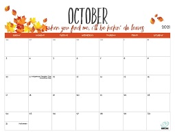 Please Click to View the October Calendar