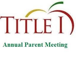 Title One Parent Input Meeting Presentation