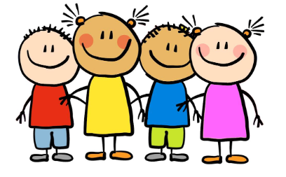 smiling cartoon children